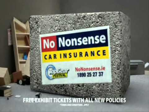 Nitro-hydrogen powered Car Insurance - Latest TV Ad From No Nonsense, Top Gear Festival Sponsor
