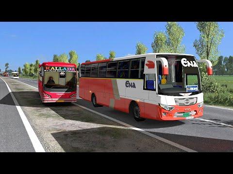 Bus Driving | Dangerous Racing Indian Volvo Vs Bangladesh Hino Bus | Euro Truck Simulator 2 Mod