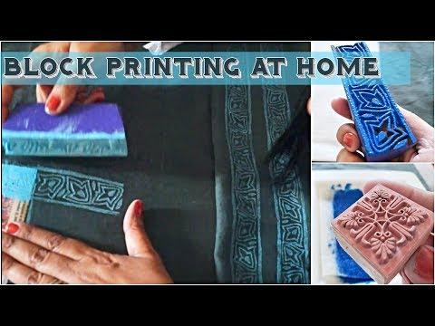 DIY- Block Printing Tutorial | Hand Block Printing