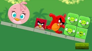 Angry Birds Kick Piggies - CHANGE SHAPE ROUND OR SQUARE KICK OUT PIGGIES