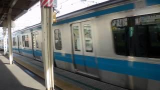 【なぜか空笛鳴らされる・・。】京浜東北線E233系 快速大船行き 御徒町駅通過・・・・ thumbnail