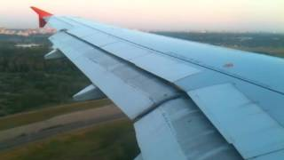 Landing at Sheremetyevo International Airport, Moscow