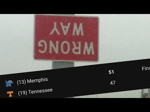 Tennessee Vols Lose To Memphis, They Suck At Basketball Too Smh
