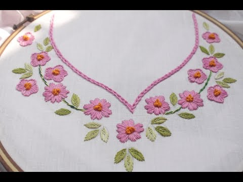 Hand Embroidery Designs For Neck Design For Dresses Beautiful Neck