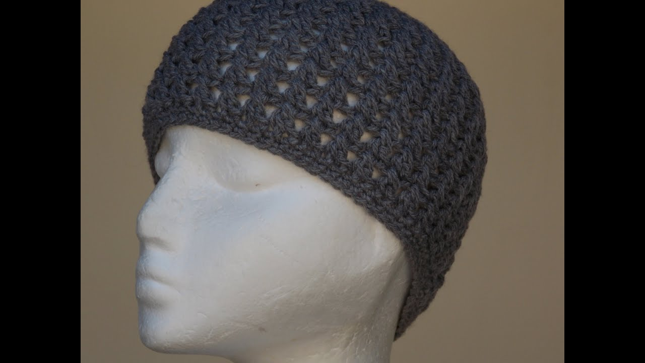 Cross Stitch Hat Crochet Tutorial - YouTube