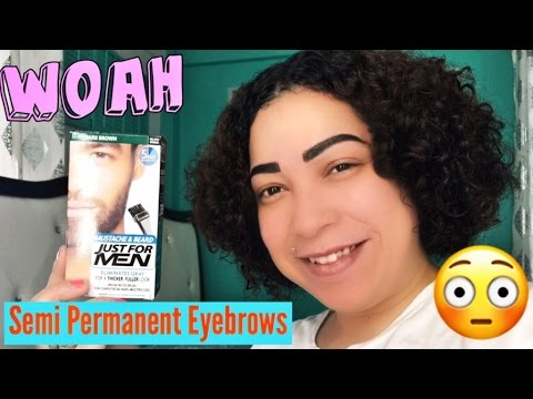 Semi Permanent Eyebrows Using Just for men Beard Dye/ Hit or Miss ...