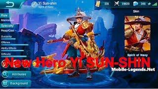 mobile legends  all hero YI SUN SHIN