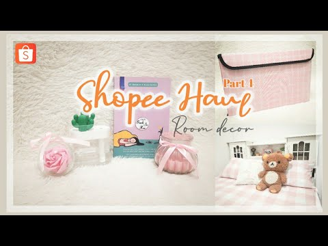 shopee haul room decor part 4   serba pink dan putih lagi