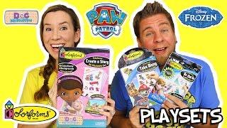 Colorforms Paw Patrol, Doc McStuffins, and Frozen Playsets