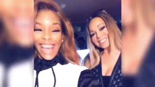 "Mariah Carey and Shawni RECORDING the ""A No No Remix""!(2019) Video"