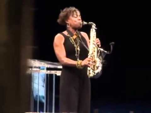 Gospel Saxophonist Angella Christie @ Crenshaw Christian Center  during NBA ALL-STAR WEEKEND in LA