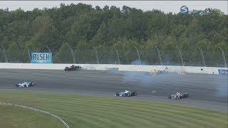 IndyCar Series 2017. Pocono Raceway. James Hinchcliffe & J.R. Hildebrand Big Crash