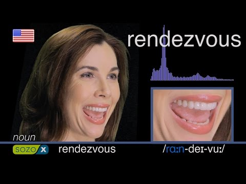 How To Pronounce RENDEZVOUS - American vs British Pronunciation - Difficult Words To Pronounce