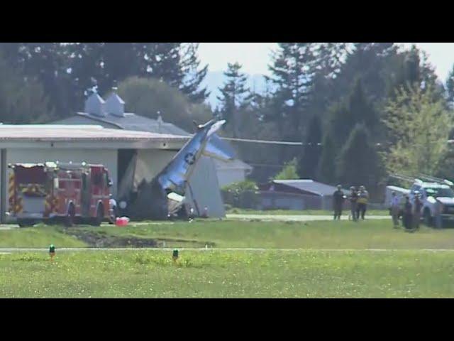 Small plane crashes at Grove Field near Camas
