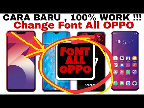 CARA GANTI FONT ALL OPPO (F7/F9/A3S/REALME) - YouTube