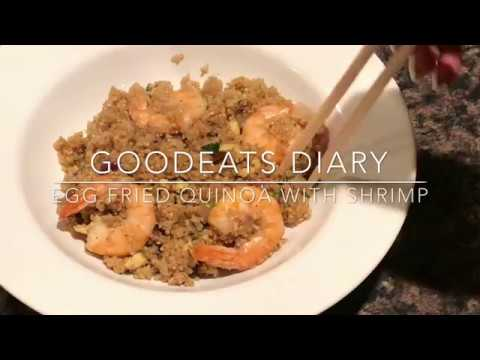 Egg fried Quinoa with shrimp