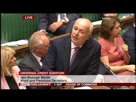 Iain Duncan Smith Throws Insults Over Universal Credit