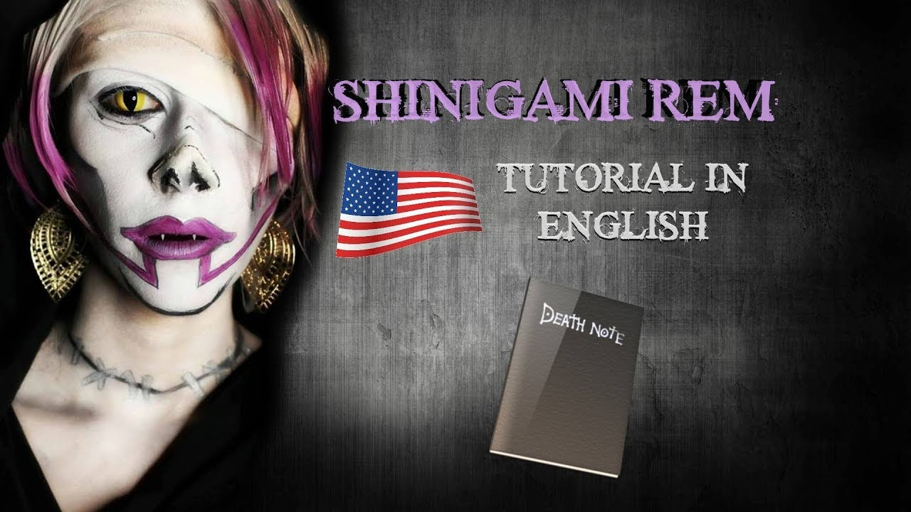 [DEATH NOTE] SHINIGAMI REM COSPLAY MAKEUP TUTORIAL - YouTube