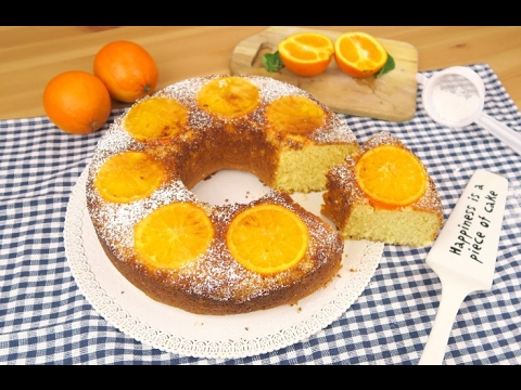Orange upside-down cake: an aromatic dessert that will delight you!