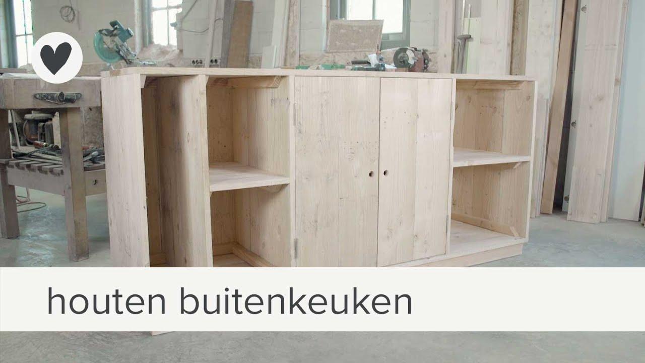 Houten Buiten Keuken : Houten buitenkeuken van duurzaam douglas hout
