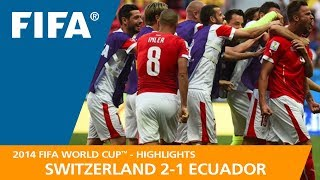 SWITZERLAND v ECUADOR (2:1) - 2014 FIFA World Cup™