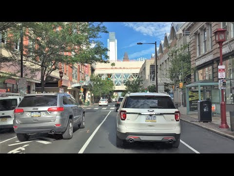 Driving Downtown - Chinatown - Philadelphia Pennsylvania USA