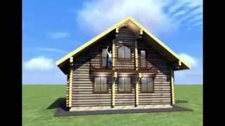 видео Дома из сухого профилированного бруса в средней полосе