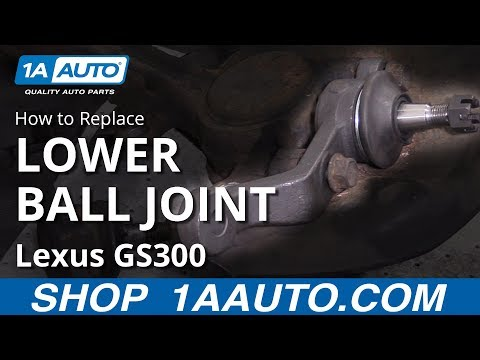 How to Replace Front Lower Ball Joint 97-05 Lexus GS300