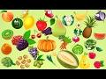 Learn Vegetables & Fruit Name | With Cartoon characters for Kids