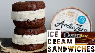 Healthy Ice Cream Sandwich Recipe | How To Make A Brownie Cookie Dough Ice Cream Sandwich