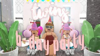 TWINS BIRTHDAY PARTY | FT FAEGLOW & FIFIPOPPIN | BLOXBURG ROLEPLAY