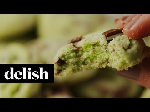 Mint Chip Cookies | Delish