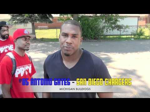 Antonio Gates & AYF Michigan BullDogs