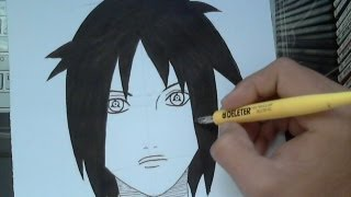 TUTORIAL how to draw Izuna Uchiha