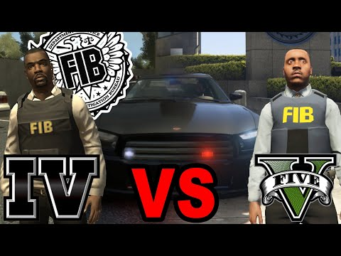 FIB Agents (GTA V Vs GTA IV)
