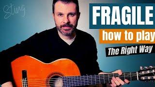 FRAGILE - Sting // guitar lesson Tutorial