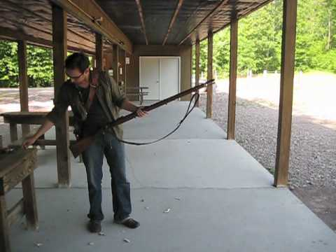 Loading and firing an 1853 Enfield rifle-musket.