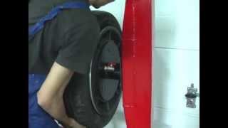 Maszyna do sprawdzania opon, tyre testing pressure machine, Reifenprüfmaschine