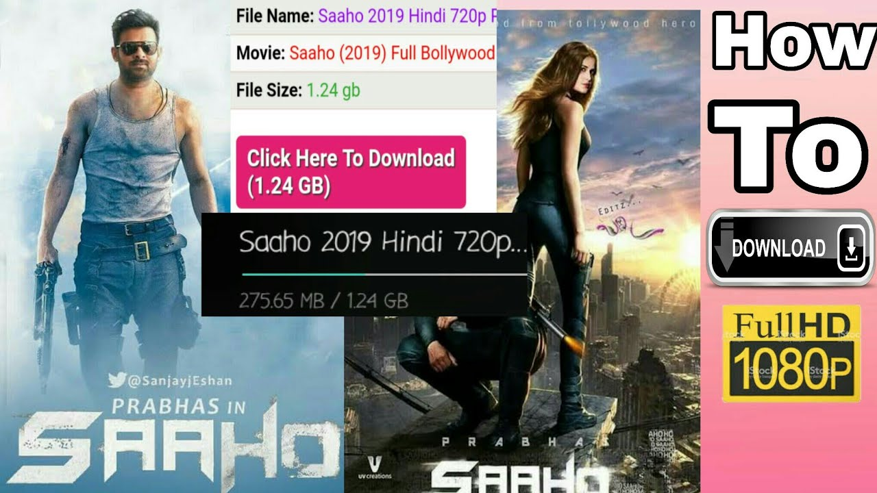 how to download saaho full hd movie 720p movie in saaho saaho full hd movie youtube youtube