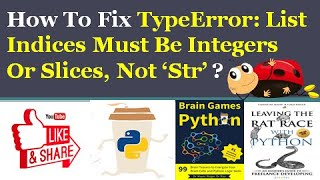 List Indices Must Be Integers Not Str Design Corral 0