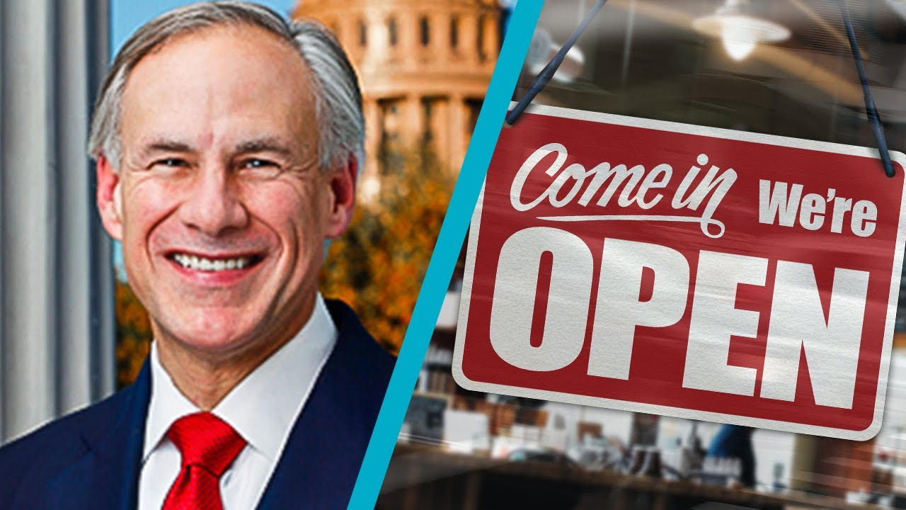 Texas Governor Opens State and Lifts Mask Mandate