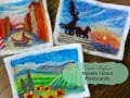 Needle Felted Postcards!