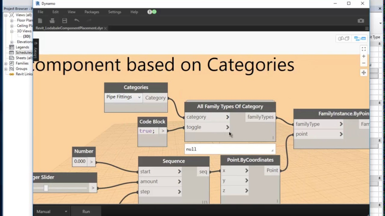 Dynamo To Automate Component placement in Revit