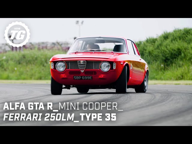 Chris Harris Drives... Retro: Ferrari 250LM, Mini Cooper S, Alfaholics GTA-R | Top Gear