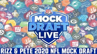 2020 NFL Mock Draft LIVE | Rizz & Pigskin Mock Draft (From Live Stream)