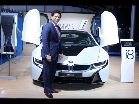 Sachin Tendulkar Launches BMW New Car i8