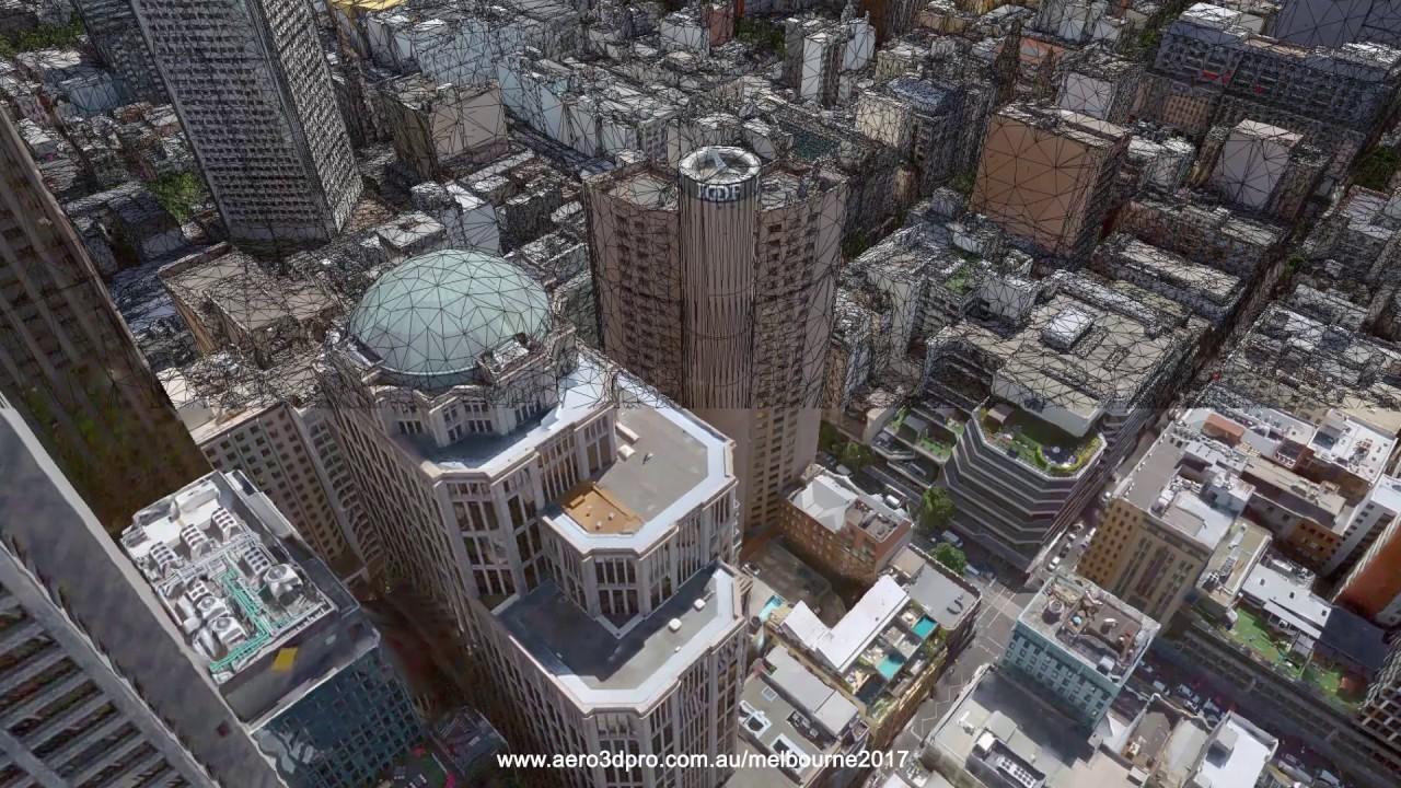 Large scale Melbourne 3D city model 2017
