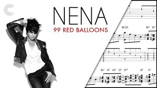 Violin - 99 Red Balloons - Nena Sheet Music, Chords, and Vocals