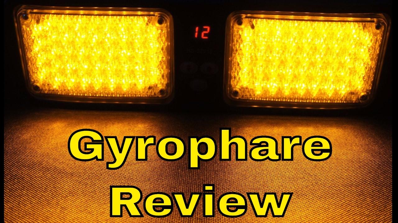 gyrophare led orange de pare soleil 12 modes id al pour camion et auto review par thinkunboxing. Black Bedroom Furniture Sets. Home Design Ideas