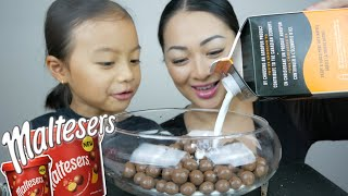 Chocolate Maltesers with Whipped Cream Mukbang | N.E Let's Eat